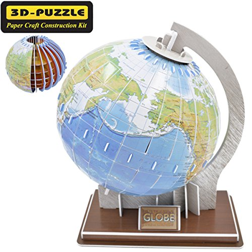 Creative Magic 3D Jigsaw Puzzle Globe Building Models Brain Teaser Educational Game Toys Halloween Christmas Gifts for Kids Children Adults DIY The Earth Puzzles Ball-49 (Halloween Brain Teaser)
