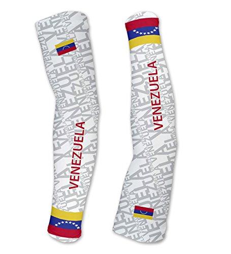 Venezuela ScudoPro Compression Arm Sleeves UV Protection Unisex - Walking - Cycling - Running - Golf - Baseball - Basketball - Size XL