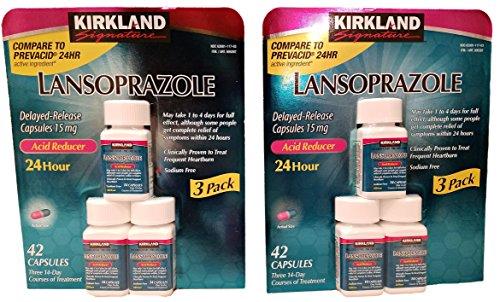 Kirkland Lansoprazole 3 Pack Delayed-Release Total 84 Capsules ()