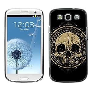 LASTONE PHONE CASE / Carcasa Funda Prima Delgada SLIM Casa Carcasa Funda Case Bandera Cover Armor Shell para Samsung Galaxy S3 I9300 / Design Grunge Ancient Skull
