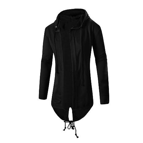 Hombre cortavientos felicove Otoño Medio de invierno con capucha abrigo chaqueta de punto abrigo Top Blusa
