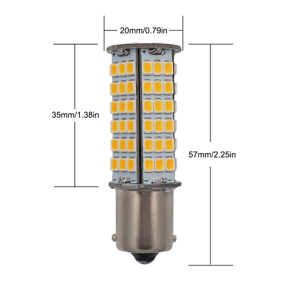 GRV BA15S LED Light Bulb 1156 1141 High Bright Car Bulbs 102-2835 SMD 3W DC12V Cool White Pack of 6