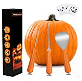 Cheap Wolmund Halloween Pumpkin Carving Kit, 3 Piece Heavy Duty Stainless Steel Tool Set and 8 Pumpkin Carving Patterns