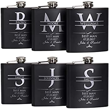 51b006a53e03b Amazon.com | P Lab Set Of 6 - Groomsmen Gift - Groomsman Gifts For ...