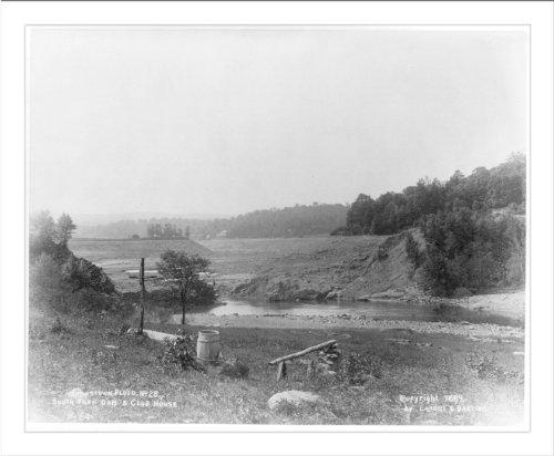 Historic Print (L): Johnstown flood, [Pennsylvania], South Fork Dam and club -