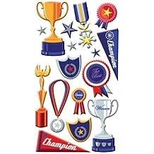 EK Success Puffy Dimensional Stickers - Trophies