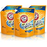 Arm & Hammer Plus OxiClean HE Liquid Laundry Detergent Easy-Pour Pouch, Pack of three 50 oz. pouches, 84 total loads