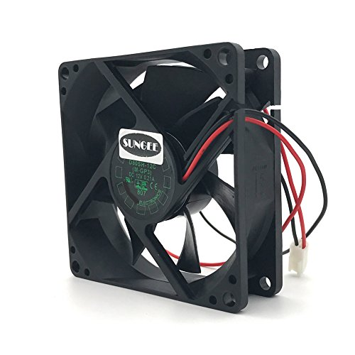 D80SH-12C 12V 0.21A 8020 8CM 2 wire power supply cabinet cooling fan by Sungee (Image #2)