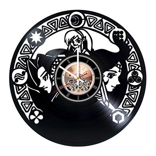 Zelda Vinyl Record Wall Clock -Nursery room wall decor - Gift ideas for teens, friends, boys - Unique Art (Princess Midna Costume)