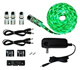 Cut and Connect LED light strips| Super Bright - 18 leds per foot | Green | 9.5ft/ 3M | Flexible LED DIY Kit | Inspired LED