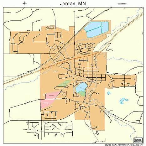 Amazon.com: Large Street & Road Map of Jordan, Minnesota MN ...