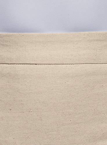 Tissu Femme oodji Beige en 3000m Textur Collection Droite Jupe HccFUT