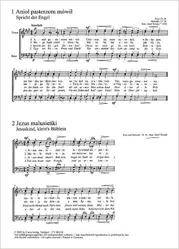 Polnische Weihnachtslieder Texte.Zwölf Polnische Weihnachtslieder Für Männerchor A Cappella Sammlung
