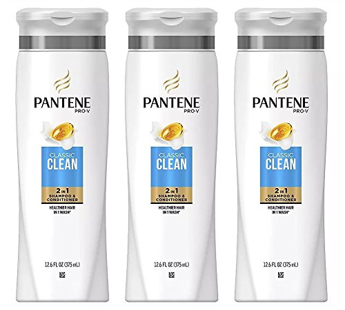 Shampoo Conditioner Moisturizing (Pantene Pro-V Classic Clean 2in1 Shampoo and Conditioner, 12.6 Ounce(Pack of 3))