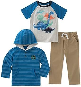 Kids Headquarters Conjunto de Pantalones de bebé para niños de 3 Piezas, Azul, 12m
