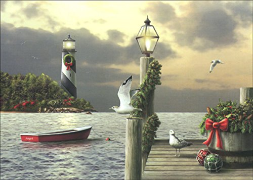 A Moment in Time - Lighthouse Box of 18 Christmas (Lighthouse Christmas Cards)