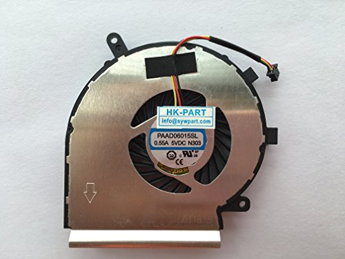 (HK-Part Laptop Cpu Cooling Fan 3-Pin 3-Wire For AAVID THERMALLOY PAAD06015SL 0.55A 5VDC N303)