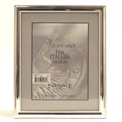 8 x 10 Picture Frame in Silver with Delicate Beading