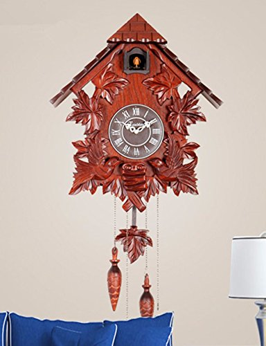 SUNQIAN-European style solid wood cuckoo clock, children's room decoration originality electronic timekeeping clock,a by SUNQIAN