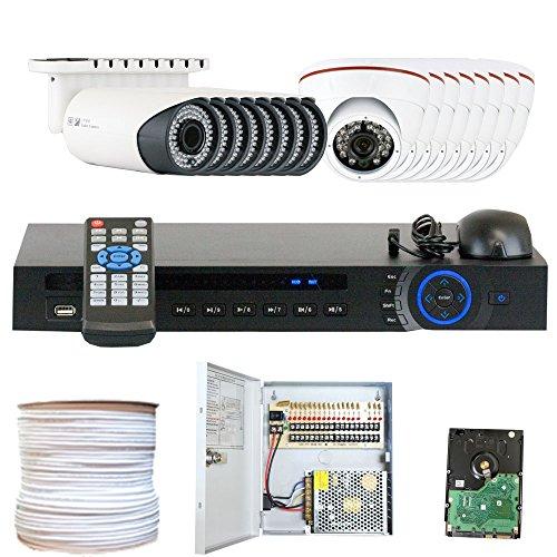 GW Security Inc VD16CHC8 16 Channel HDCVI DVR Security Camera System