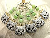 Knitting Stitch Marker Charm Jewelry- Cat Faces