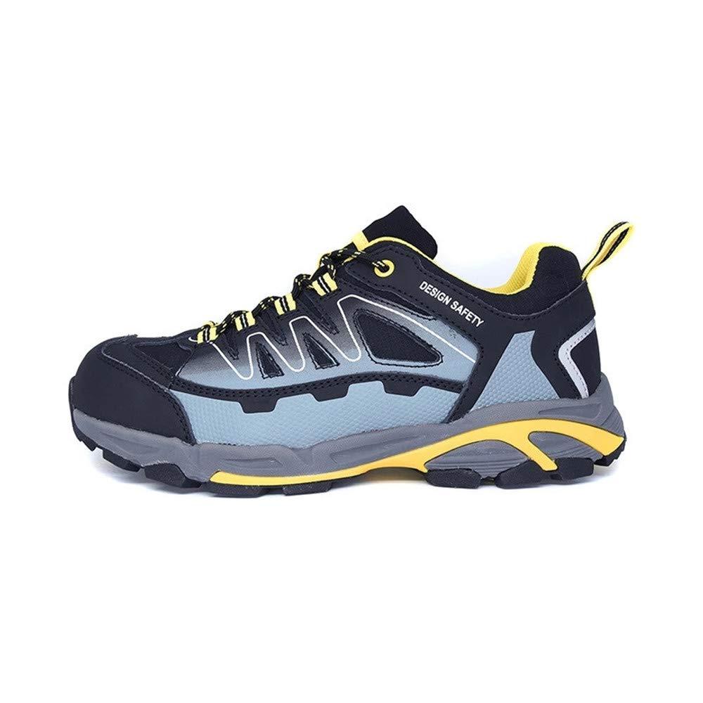 Carlshow Steel Toe Shoes Men, Work Safety Sneakers Reflective Strip Slip Resistant Industrial & Construction Shoe Black