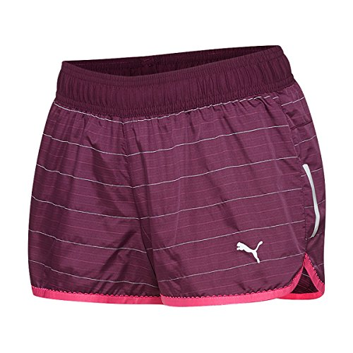 Puma Women's PR Pure Night Cat Shorts, Potent Purple, Large