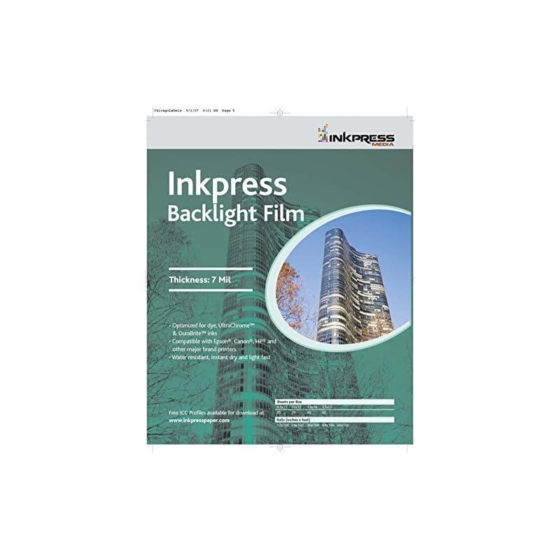 Inkpress Media Backlight Film, 7 Mil Pap