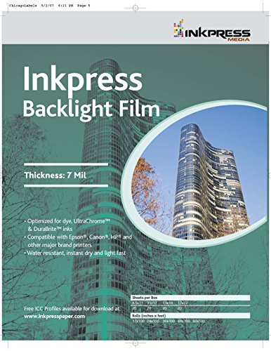 Inkpress Film Backlight - Inkpress Media Backlight Film, 7 Mil Paper
