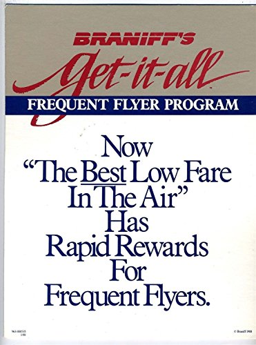 Braniff's Get-it-all Frequent Flyer Program Counter Top Sign 1988 (Best Frequent Flyer Program)