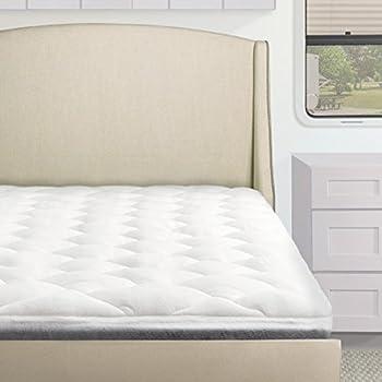 standard overfilled pillow top rv mattress pad rvcamper mattress topper rv