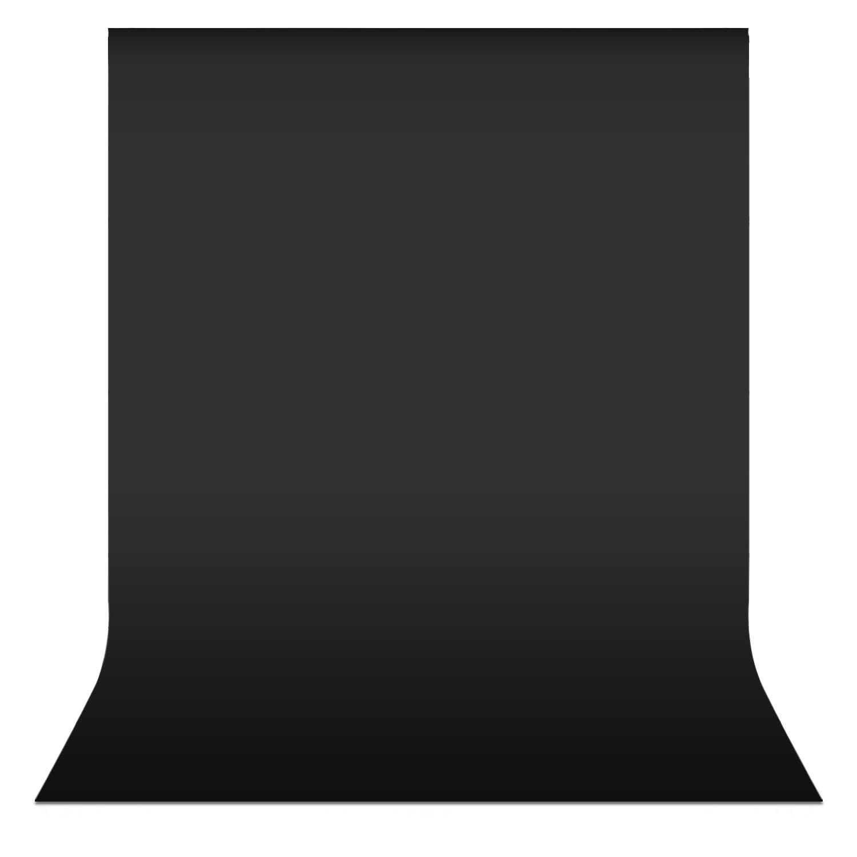 NEEWER 5.25ft x 10.5ft/1.6x3M背景布 不織布 フォトスタジオ肖像撮影ビデオ撮影に適し(ブラック) 【並行輸入品】   B01ABF5ODG
