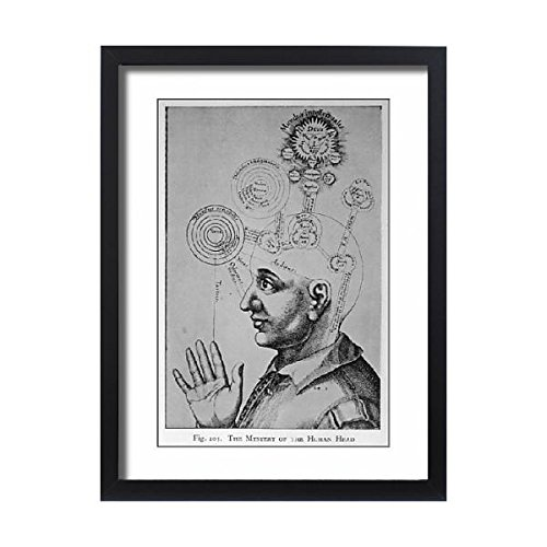 Framed 24X18 Print Of Paranormal/phrenology (578009) by Prints Prints Prints