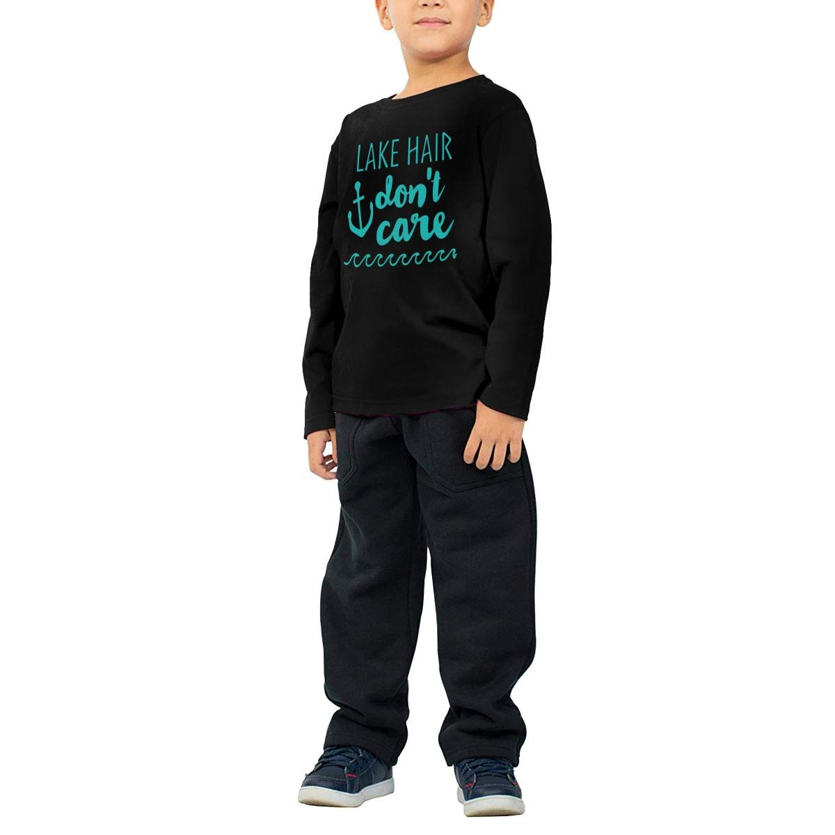 CERTONGCXTS Toddler Dont Care ComfortSoft Long Sleeve Tee