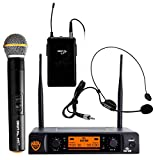"""Nady DW-22 Dual Digital Wireless Combo System with 1 Handheld Microphone, 1 bodypack & 1 Headset – Ultra-low latency with QPSK modulation - XLR and ¼"""" outputs"""