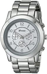Geneva Women's 2365-silver-GEN  Stainless Steel Boyfriend Watch
