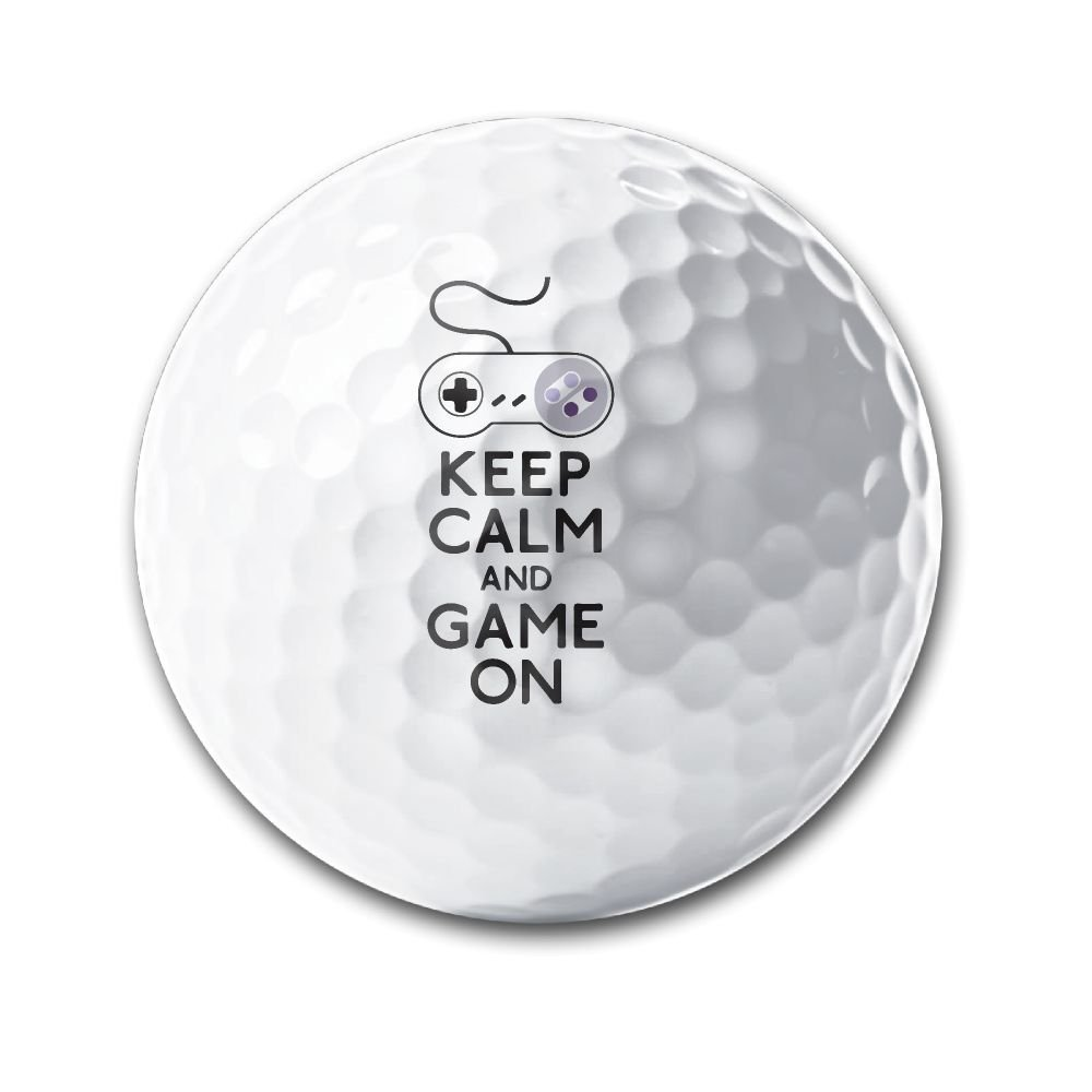 BWEGqw Keep Calm And Game On Deluxe Printing Golf Balls