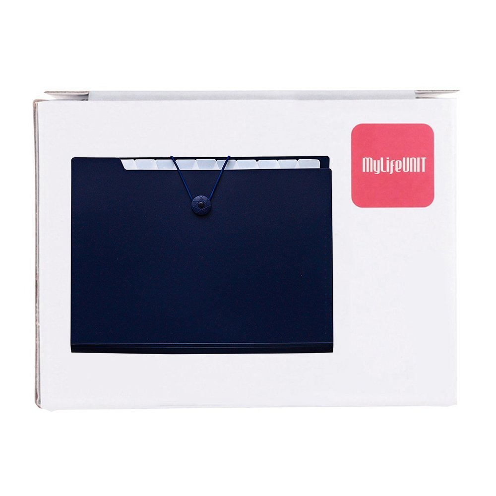 Mylifeunit Expanding file Folder 325/x 235/mm 325 mm x 235 mm White Legal size file organizer con 12/tasche