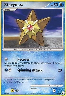 Pokemon Diamond & Pearl Legends Awakened Single Card Staryu  122 Common [Spielzeug]