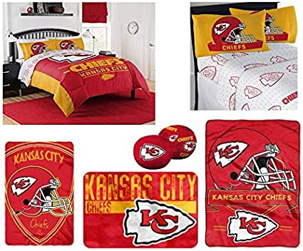 Multicolor One Size The Northwest Company NFL Kansas City Chiefs Twin Comforter and Sham