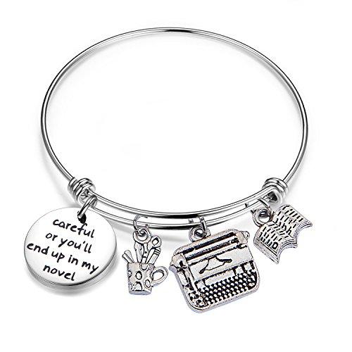 Gzrlyf Writer Bracelet Author Bracelet Writer Gift Novelist Gift Careful Or Youll End Up In My Novel Jewelry Writing Gift Author Jewelry (Writer bracelet) by Gzrlyf (Image #6)