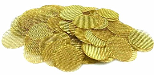 Abg 100Ct 5 8 Brass Pipe Screens   625  Premium Tobacco Smoking Pipe Screen Filters  Made In The Usa By Abg Marketplace