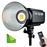 Godox SL100Y SL-100W 100WS 3300K±300K Studio Continuous LED Video Light Lamp Bowens Mount With EACHSHOT Cleaning Cloth
