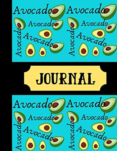 Drawing Fruit Bowl - Avocado Journal: Avocado Fruit Blue