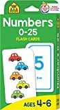 School Zone - Numbers 0-25 Flash Cards - Ages 4-6, Preschool and Up, Math Equations, Problem Solving, and More