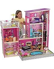 "KidKraft 65833 Uptown Dollhouse with Furniture (49.25"" x 25.25"" x 46.25"")"