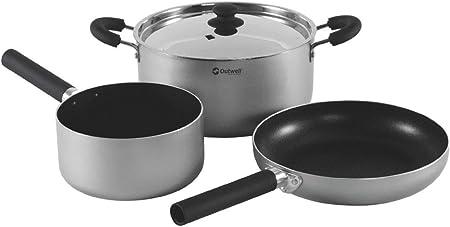 Outwell Kochset Feast - Set de Cocina para Acampada, Talla L