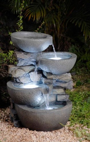 Charmant Modern Bowls Fountain With Led Lights