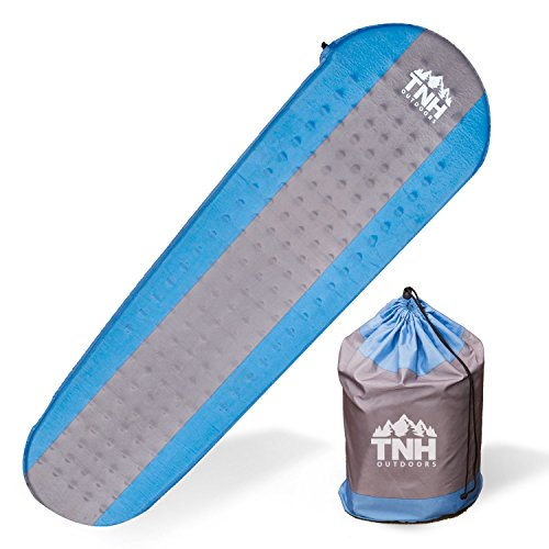 Self Inflating Sleeping Pad by TNH Outdoors - Support a START UP! Lightweight Self Inflatable Padding And Well Insulated For Hiking And - Air Sleeping