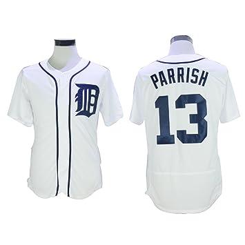 13 Parrish Jersey Azul Marino cosido para hombre camisetas, XXL, Blanco